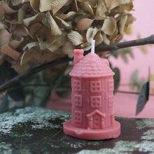 3D форма замка свечи формы ароматический гипсовый глины ремесла для украшения дома ручной работы свечи мыло изготовление прессформы