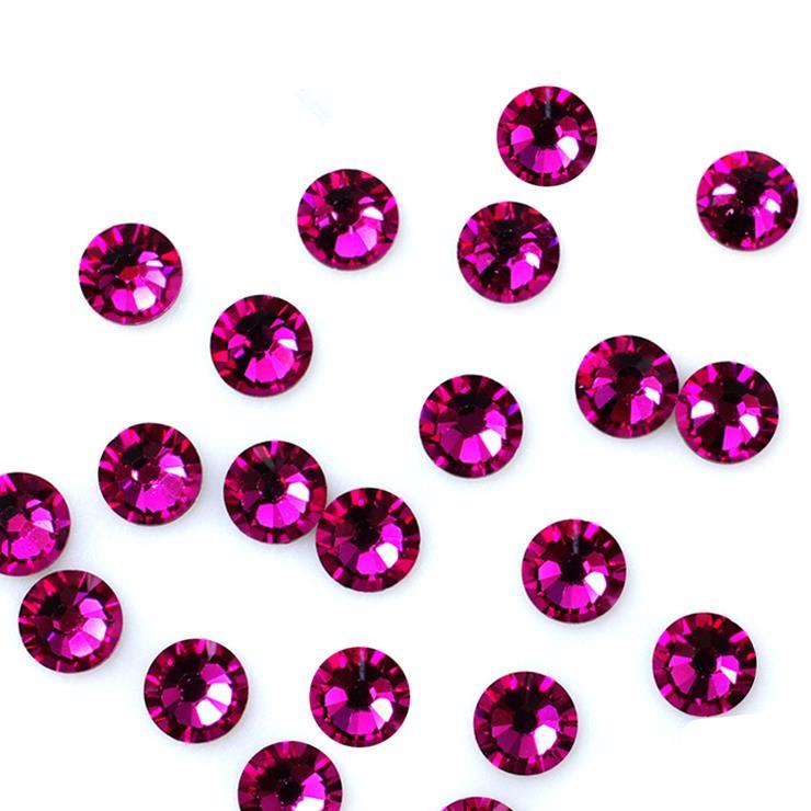 Super Shiny SS3-SS34 Fuchsia Red Glitter Non Hotfix Opal Color 3D Nail Art Decorations Flatback Rhinestones Strass Stones super shiny 5000p ss16 4mm crystal clear ab non hotfix rhinestones for 3d nail art decoration flatback rhinestones diy