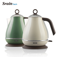 SrainTech 2000W Stylish Stainless Steel Electric Kettle 1.7L Food Grade #304 with Detachable Base Cordless Scale Window Kettles