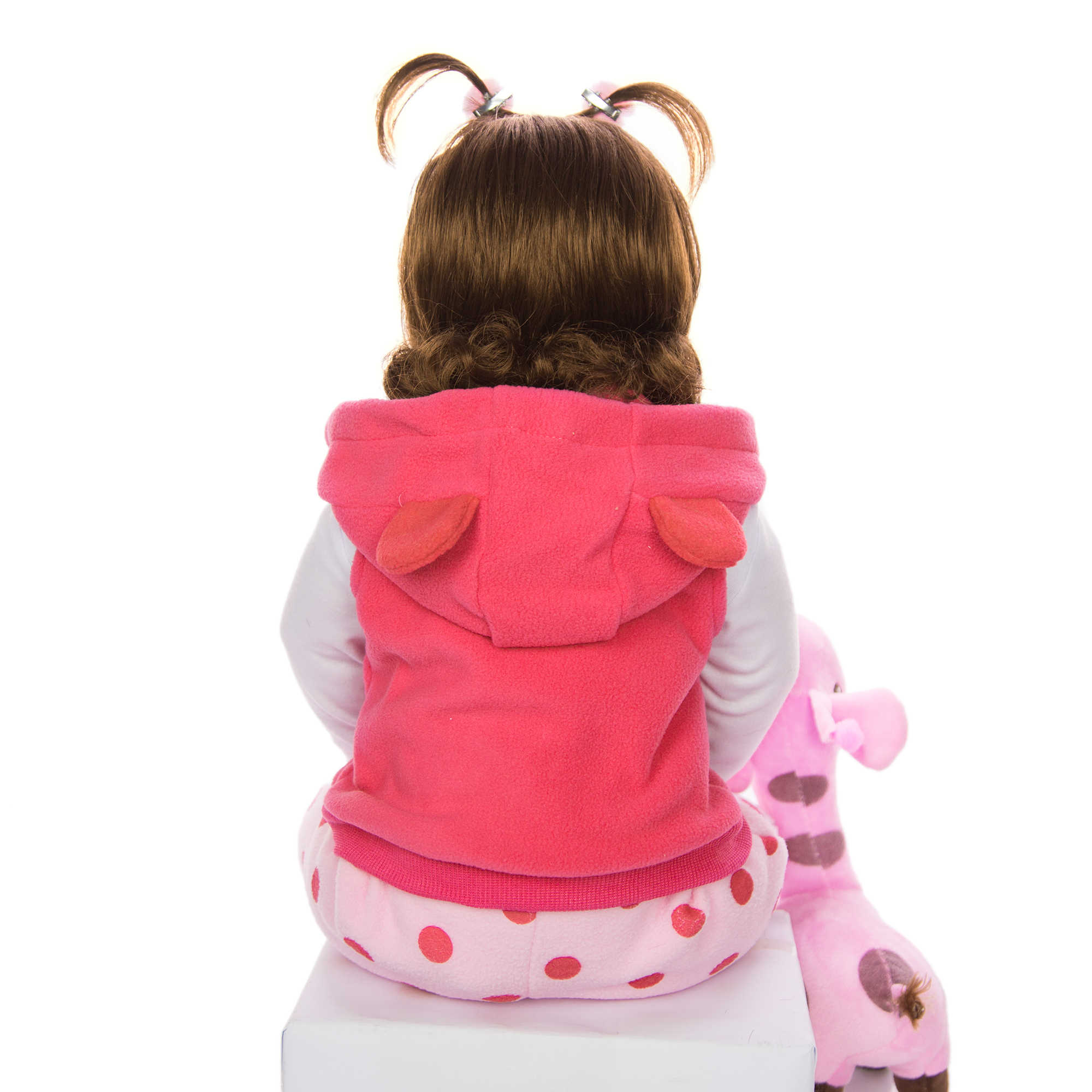 KEIUMI gran oferta muñeca de bebé Reborn juguete de cuerpo de peluche muñeca realista con jirafa niño cumpleaños regalos de navidad