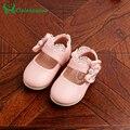 12-14 CM Zapatos de La Muchacha Del Bowtie Zapatos de Fiesta De Encaje Niño Niños Niñas de cuero de LA PU de Diamantes Princesa Espejo Caída resorte Del Niño Del Zapato