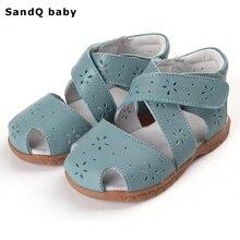 Новые летние детские сандалии из натуральной кожи, сандалии для девочек, износостойкая детская обувь, обувь для малышей