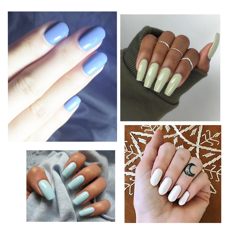 Aliexpress 1pcs Brand Green Color Fast Dry One Step Gel Nail Polish Long Lasting Soak Off Focallure 6colors Lacquer High Quality From