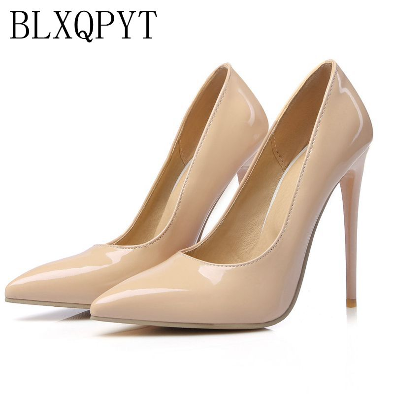 Big Size Sale 34-47 Apricot New Fashion Sexy Pointed Toe Women Pumps Platform super High Heels Ladies Wedding Party Shoes 8-10 qplyxco 2017 new big size 34 47 ankle boot short autumn winter sexy women s pointed toe high heels wedding party shoes 584 2