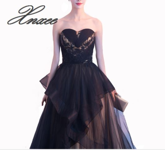 2019 new banquet elegant and elegant long black dress in Dresses from Women 39 s Clothing