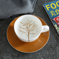 Find Bone China Tree Branches Leaves Coffee Cup Sets With Saucer Simple British Afternoon Tea High Grade Porcelain Cup Gift