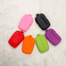 1pcs Silicone Mini Jelly Cute Purses Fashion Candy Color Vogue Coin Purse Cellphone Stationery Cosmetic Handbag Rubber Wallet(China)