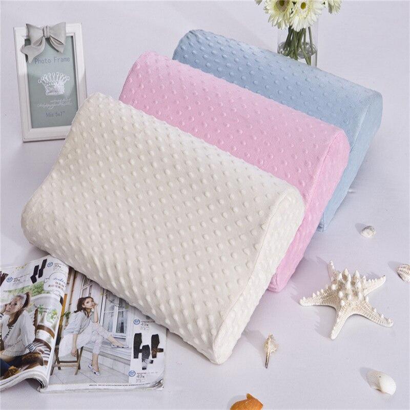 3 colors foam memory pillow orthopedic pillow travel sleeping latex neck pillow rebound pregnancy pillow protect