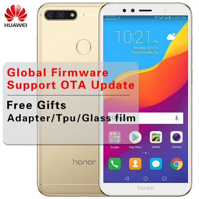 Оригинальный huawei Honor 7A играть глобальной прошивки 2 ГБ/3 ГБ 32 ГБ 5,7 дюймов Восьмиядерный Snapdragon 430 спереди 8.0MP сзади 13.0MP 3000 мАч
