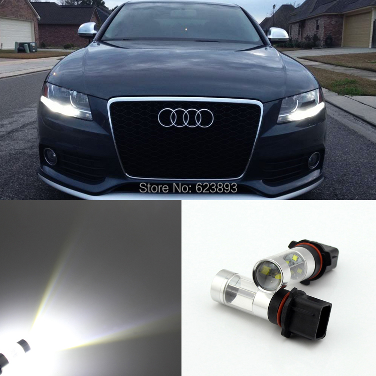 Us 26 99 2x Error Free P13w 30w Led Daytime Running Lights Drl Bulbs For 2008 12 Audi B8 Model A4 Or S4 With Halogen Headlight Trims In Car Light