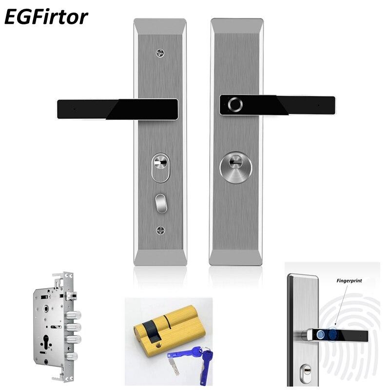 Acier inoxydable D'empreintes Digitales Tête Semiconductor serrure biometrique serrure de porte intelligente Automatique porte de sécurité serrure électronique