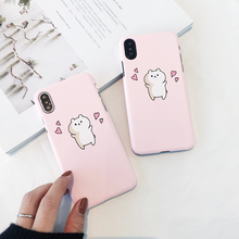 Heyytle Funny Case For Apple iPhone X 8 7 6S 6 Plus Peach Phone Case Pattern Cute Case Frosted Back Hard PC Shell For iPhone 10 стоимость