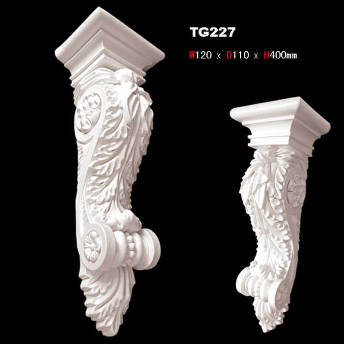 classic European style PU polyurethane corbel fireplace decoration entrance decor corridor portal decorating components