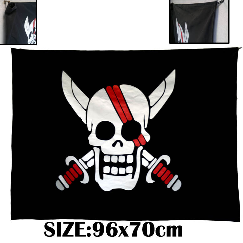 ONEPIECE White beard Props Pirates Group Flag Move the pirate flag COSPLAY Stage property Big Flag