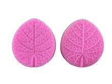 2pcs/set Clay Flower Making Peony Rose Leaf Petal Stamp Silicone Mold Designer DIY Veiner Molds Double Side 3D