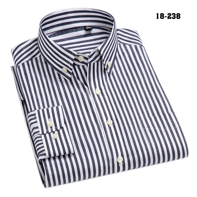 100% Cotton High-Grade Oxford Striped Social Shirts  5