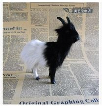 mini cute simulation sheep toy lifelike black&white sheep doll gift about 13x4x12cm