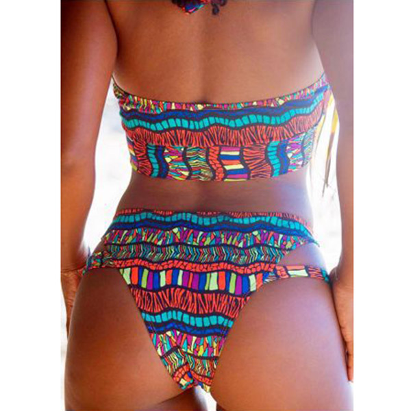 Women Tops with Pants Bikini Suit Print Backless High Elastic Fast Dry Swimsuit for Summer YS-BUY 4