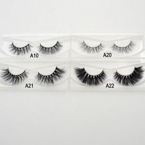 Image 5 - 무료 dhl 50 쌍 visofree 속눈썹 밍크 거짓 속눈썹 수제 밍크 컬렉션 3d 극적인 속눈썹 32 스타일 반짝이 포장