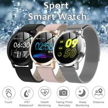 Color Screen Smart Watch Men Women Fashion IP67 Waterproof Tempered Glass Fitness Trackers Heart Rate Monitor Smartwatch(China)