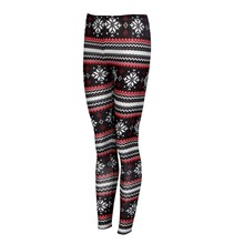 Women Winter Warm Christmas Printed Leggings