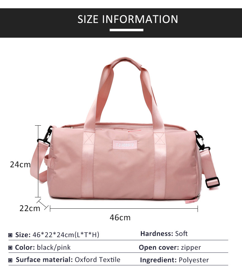 Friendly Top Nylon Sports Gym Bag For Men Women Fitness Travel Handbags Training Shoulder Bag With Shoes Pocket Multifunction Bag Security & Protection Access Control