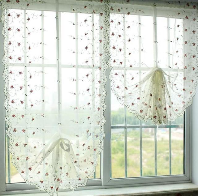 rideaux pour petite fenetre chambre fentre rideaux pour la cuisine salon chambre floral de luxe. Black Bedroom Furniture Sets. Home Design Ideas