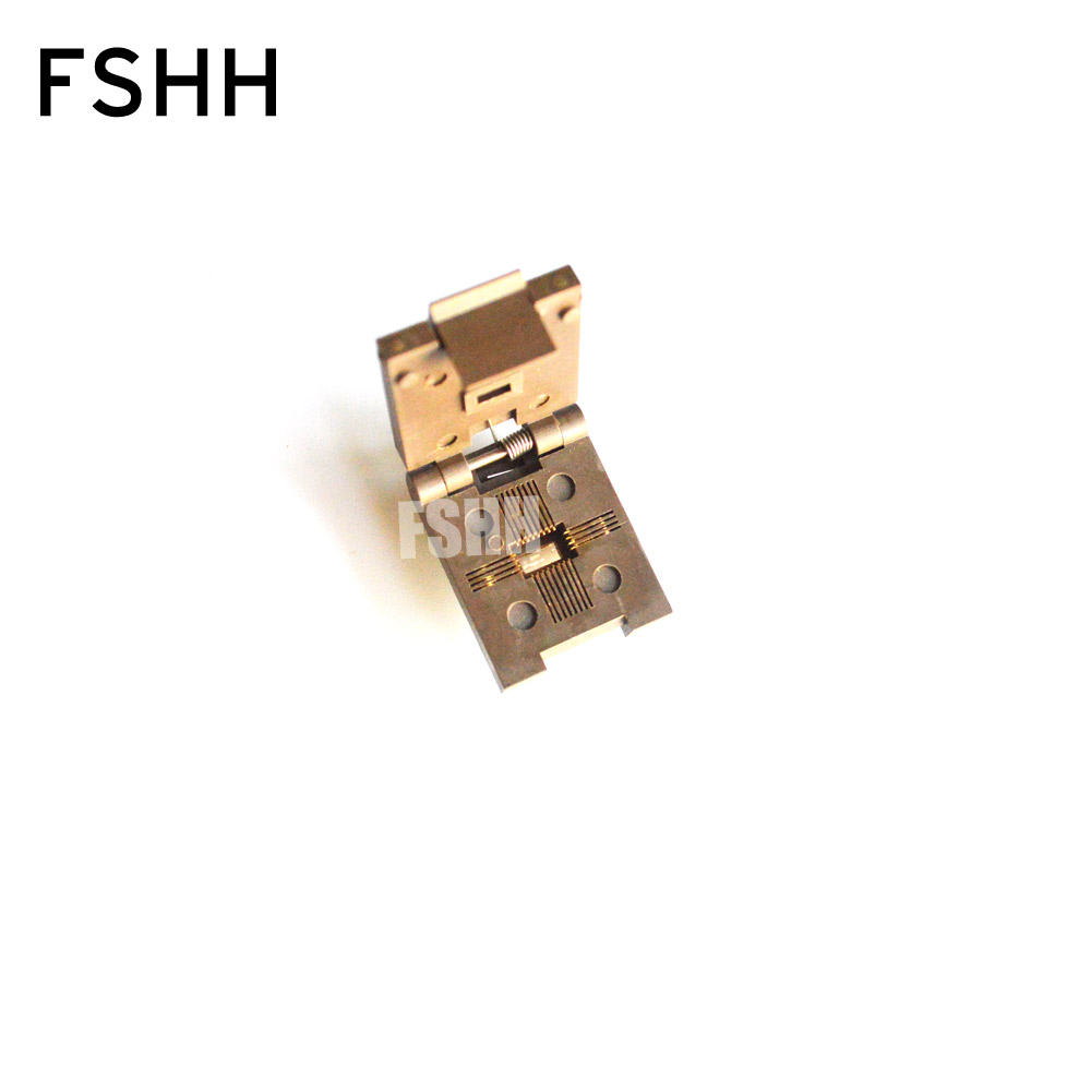 FSHH QFN24 WSON24 UDFN24 MLF24 ic test socket Size=8mmx6mm Pin pitch=0.8mm fshh qfn24 to dip24 programmer adapter wson24 udfn24 mlf24 ic test socket size 8mmx6mm pin pitch 0 8mm