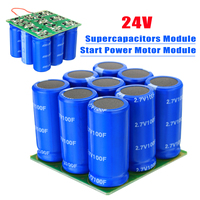 24V Supercapacitors Module Start Power Motor Start Super Farad Capacitor Module 9X 2 7V 100F Electronic