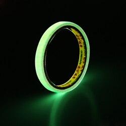 Самоклеящаяся светящаяся лента DIY светящаяся в темноте предупреждающая лента Автомобильная наклейка ночного видения Автомобильный Стайли...