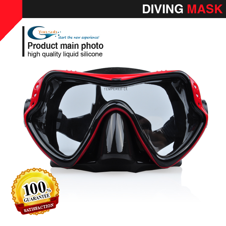 Професионална силиконова маска за гмуркане Подводен риболов Подводен лов за гмуркане Червен YM281
