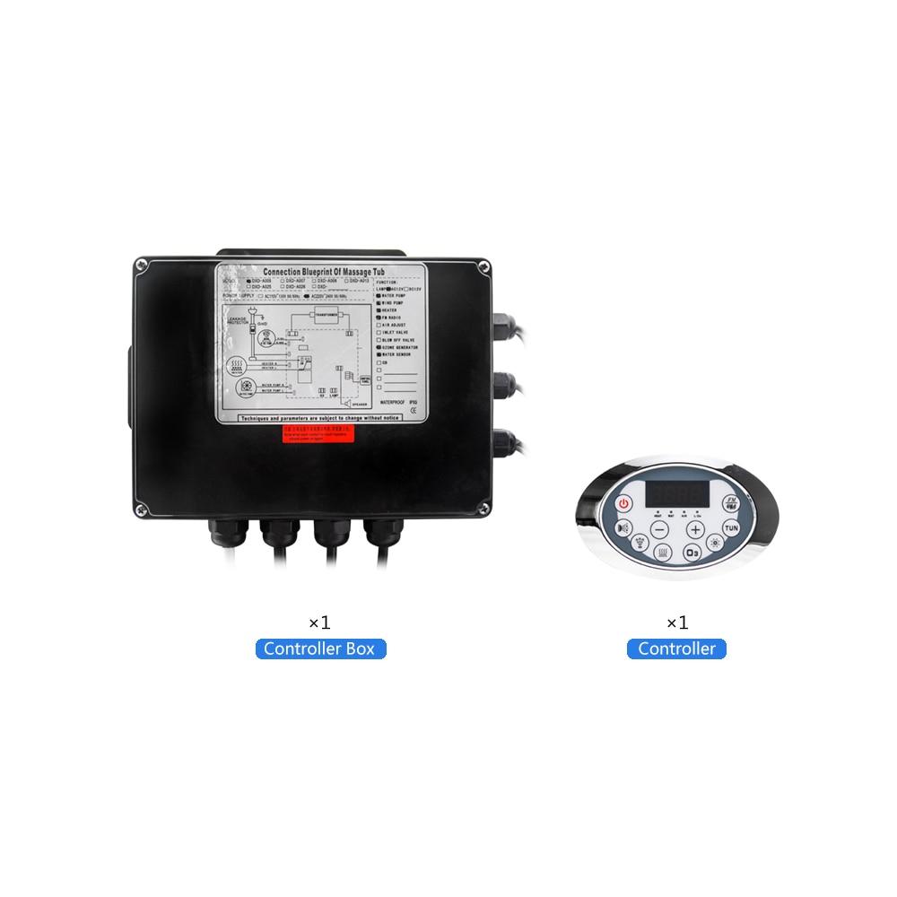 Display lcd ac 110/220 v banheira bomba painel de controle com combinação água massagem ar banheira sensor termostática função aquecedor-1