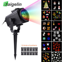 12 Film Cards Star Projector Christmas Lights Outdoor Laser Fairy Light Projection Snow Projector New Year