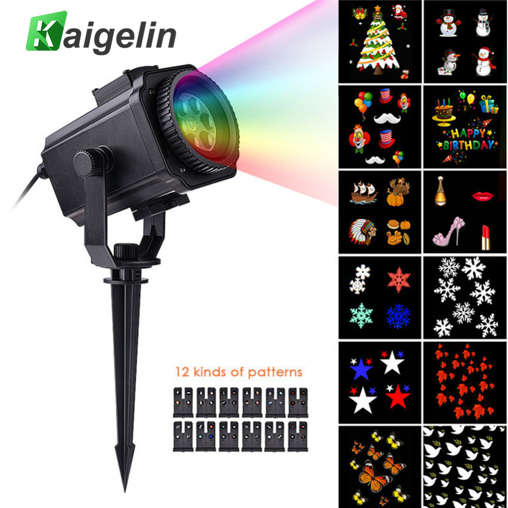 12 Film Cards Star Projector Christmas Lights Outdoor Laser Fairy Light Projection Snow Projector New Year Decoration For Home цена