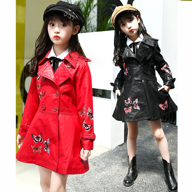 Christmas butterfly pattern children PU leather kids jackets girls trend coats jackets thick autumn winter jackets for girls  Christmas butterfly pattern children PU leather kids jackets girls trend coats jackets thick autumn winter jackets for girls