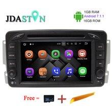 JDASTON 1G + 16G ANDROID 7.1.1 Auto GPS Radio-Multimedia-DVD-Player Für Mercedes Benz CLK W209 W203 W168 W208 W463 Vaneo Viano Vito