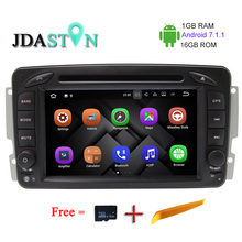 JDASTON 1G+16G ANDROID 7.1.1 Car GPS Radio Multimedia DVD Player For Mercedes Benz CLK W209 W203 W168 W208 W463 Vaneo Viano Vito