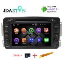 JDASTON 1G + 16G ANDROID 7.1.2 Voiture GPS Radio Multimédia Lecteur DVD Pour Mercedes Benz CLK W209 W203 W168 W208 W463 Vaneo Viano Vito