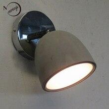 現代のシンプルなスイングヘッド燭台作業室コンクリート壁ランプベッドサイドの寝室の壁ライト