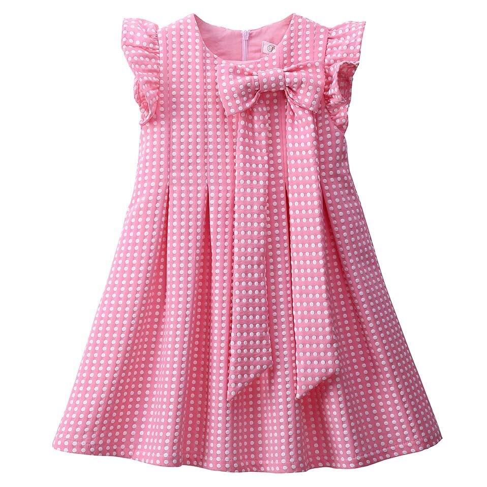 Pettigirl Hot Sale Pink Cute Dot Girls Summer Dresses With ...