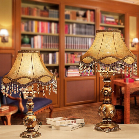 lampada de mesa retro bronze cor cozinha sala jantar cama lados industrial lampada de mesa