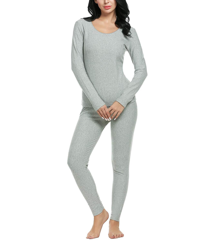 Impose Femmes Sous-Vêtements Thermiques Ultra Doux À Manches Longues Haut et Bas de Pyjama Ensemble (S-3XL) 10 pièce