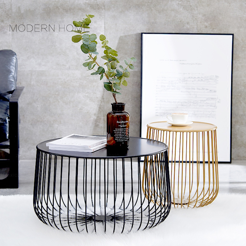 Gold Metal Round Coffee Table.Us 188 0 Fashion Popular Modern Design Pumpkin Black Gold Metal Round Tea Table Living Room Side Coffee Table End Table Customize 1pc In Coffee