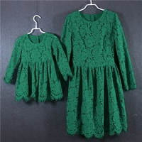 Brand infant clothing mother daughter evening girls dresses family matching clothes mom and baby girl birthday party lace dress