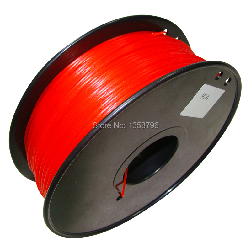red color 3d printer filament PLA/ABS 1.75mm/3mm 1kg MakerBot/RepRap/UP/Mendel plastic Rubber Consumables Material High quality ppyy new 2pcs high quality 3mm white pva dissolvable 3d printer filament 60m 0 5kg 1 1lbs 30 60mm s include spool and leathe