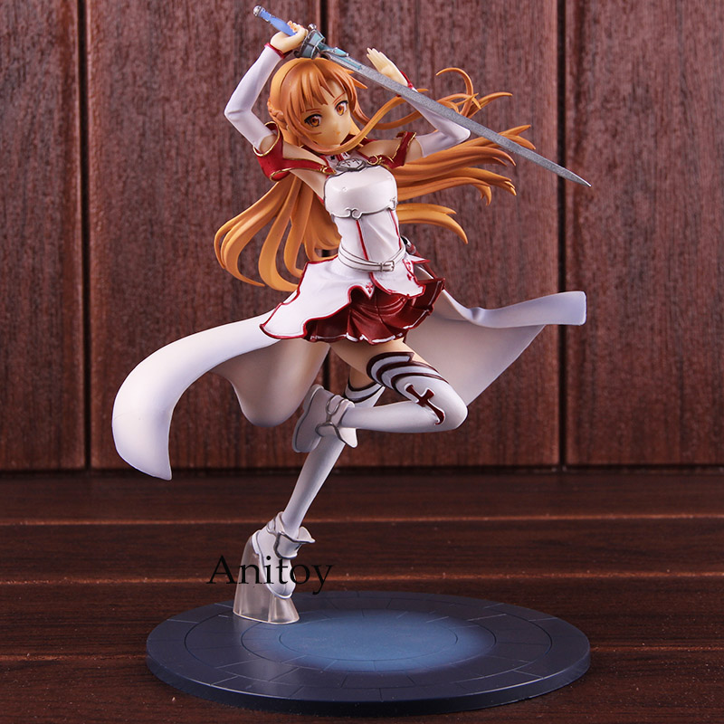 SAO Sword Art Online Asuna Figure Knights of the Blood Ver. 1/8 Scale Painted Figure Action PVC Collectible Model Toy 23cm high quality sword art online model yuki asuna action figure sao asuna figure toy