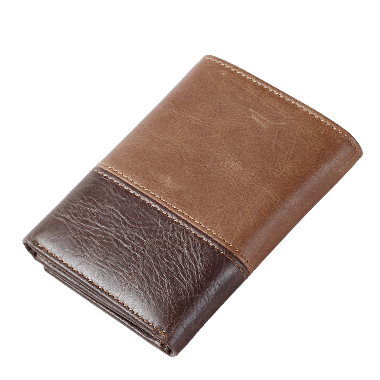 Men/'s Leather Wallet 2 Bill compartments 6 Credit Card slots 1 id window brown s