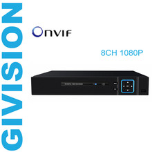 8CH 1080P CCTV security NVR network video surveillance recorder ONVIF P2P For 8pc 1080P 2MP IP Camera Security System HDMI