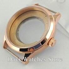 42 мм сапфировое стекло розовое Золотой корпус часов Калибр ETA 2836, серия Miyota 82