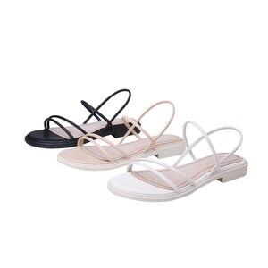 Image 5 - Женские сандалии из натуральной кожи TXCNMB, удобные повседневные сандалии, белые, черные, для лета, 2020